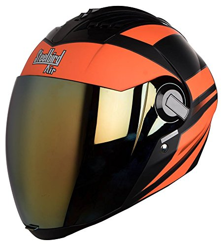 Steelbird Sba 2 Streak Full Face Helmet ( Mat Black) With Extra...