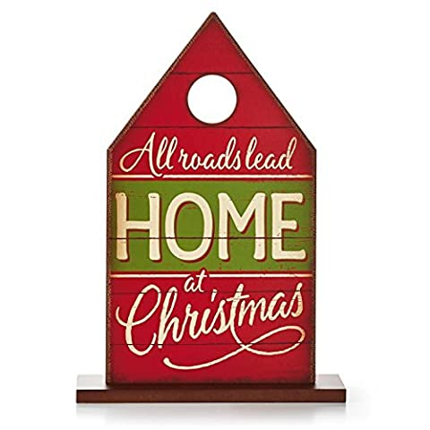 Hallmark Christmas xkt1414All Roads Lead Home HOLIDAY HOUSE SIGN BY