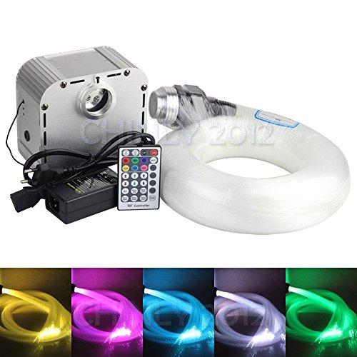 32 W Twinkle RGB Glasfaser LED Licht Star Deckenleuchte Kit Light 400 Stränge 5 m lang (0,75 mm + 1,0 mm + 1,5 mm + nadeldicke) + Kristall + 28key RF Fernbedienung 32.00 wattsW, 12.00 voltsV (Star Hardware)