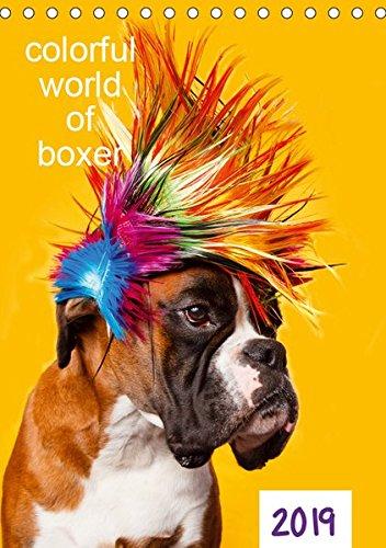colorful world of boxer 2019 (Tischkalender 2019 DIN A5 hoch): Jahreskalender 2015 Boxer (Planer, 14 Seiten ) (CALVENDO Tiere)