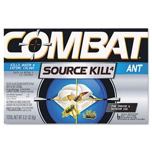 Combat Ant Killing System, Child-Resistant, Kills Queen & Colony, 6/Box
