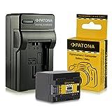 PATONA Chargeur + Batterie BP-727 pour Canon LEGRIA HF M52 M56 M506 R38 R47 R48 R306...