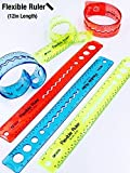 #5: Inventis (TM) Flexible Scale Ruler Kids School College Colorful 12 inch long - Random Color