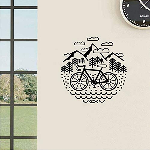 Fahrrad Und Berge Wandtattoo Radfahren Kies Fahrrad Vinyl -