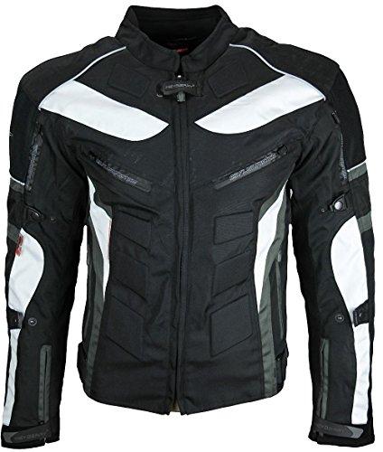 Heyberry Textil Motorrad Jacke Motorradjacke Schwarz Grau Gr. XL - 2
