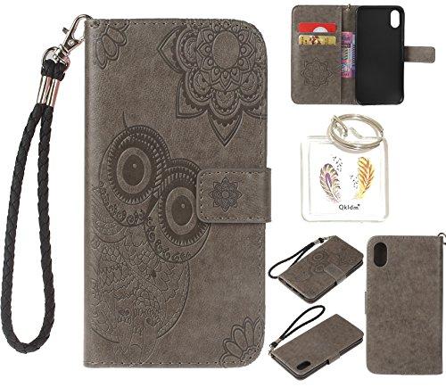 Preisvergleich Produktbild für iPhone X / iPhone 10 PU Leder Silikon Schutzhülle Handy case Book Style Portemonnaie Design für Apple Iphone iPhone X / iPhone 10 + Schlüsselanhänger ( YGV (6)
