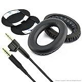 Ersatz Ohrpolster Ear Pad Kissen und Ersatz Audio Kabel (mit Mikrofon und Volumn Control) für Bose bose AE2, AE2i, AE2W Kopfhörer (Kabel + Ohrpolster)
