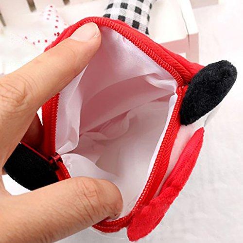 Gespout Mini Portamonete da Donna Portamonete Gatto Creativo Pacchetto Cartone Animato Borsa,Monete, Cuffie, Chiavi Pacchetto di Archiviazione,Può Trasportare F