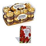 #10: SFU E Com Ferrero Rocher Valentine'S Day Combo Gift Box, 16 Pieces With Valentine Greeting Card Valentine Hamper 17