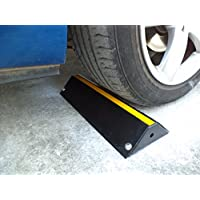 SWS-42 tope de rueda de acero, de bajo perfil para los estacionamientos y plazas de garaje 42x16x7cm