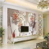 Wuyyii Personalizado Flores Wallpaper 3D Allevia Espacio Vidrio Esmerilado Blanco Almenato Pared Decorativo Fondo Foto Fondos De Escritorio-400X280Cm