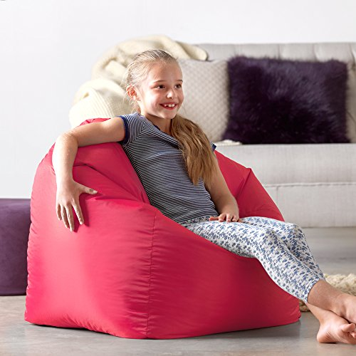 Hi-Rest Bean Bag Chair - Extra Large Bean Bag Chairs for Kids and Teens - Indoor Outdoor Childrens Bean Bags - Big Kids BeanBag Seats (Pink, Large)