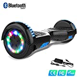 Watson Blance Boards Hover Scooter Electrique Bluetooth LED Multicolore Self Auto Equilibré HHHoverboarrrd Gyropode 6,5 Pouces Self Balancing E-Skateboard 350W * 2, Balance Board