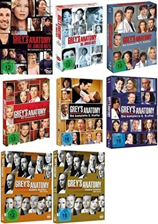 Grey's Anatomy: Die jungen Ärzte - Die komplette 1./2./3./4./5./6./7./8. Staffel [47-DVD / 8-Boxen] (Greys Anatomy Staffel 2 Und 3)
