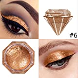 Allbesta Diamond Glitter Lidschatten Make-up Metallic Pearls Shimmer Pigment Gold Silver White Purple Powder