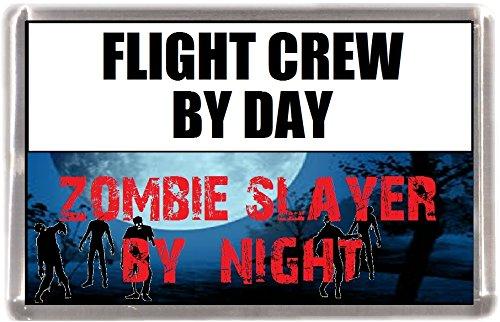 Kühlschrankmagnet Flight Crew Zombie SlayerGeschenk Mit Englisch Wörter