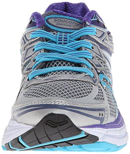 SAUCONY Omni 13 Scarpa da Running Donna Silver/Blue/Purple