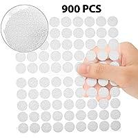 Velcro Redondo Monedas, Mopalwin Lunares Adhesivo 900 Unidades 10mm Cintas Autoadhesivo puntos de velcro 450 pares - Blanco