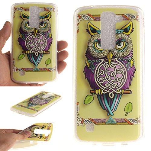 Coque Apple iphone 7 (4,7 pouces), Nancen Ultra Mince Etui Housse Couverture Souple TPU Silicone Case Coque de protection [Pissenlit] Tricoter hibou