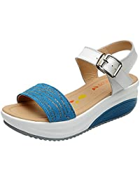 Longra Donne Bow sandali Slipsole (EU Size:35, Nero)