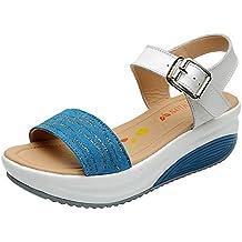 Sandali casual blu per donna Qzbaoshu lM3LL