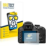 BROTECT AirGlass Protector Pantalla Cristal Flexible para Nikon D3300 Protector Cristal Vidrio - Extra-Duro, Ultra-Ligero
