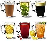 Rink Drink Latte Coffee Glasses - 250ml (8.8oz) - Gift Box of 6