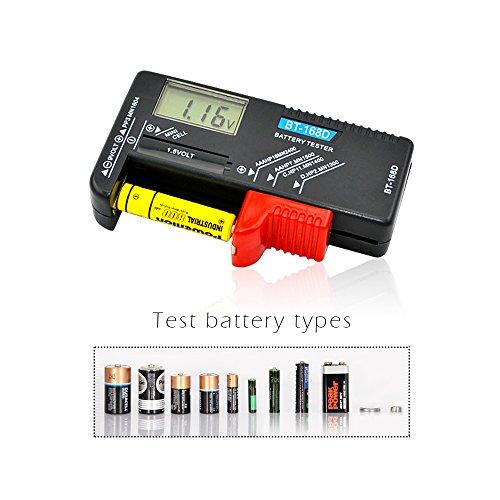 Batterietester Digital ineith Volt Checker für AA AAA C D 9V 1,5V Button cell-bt-168d