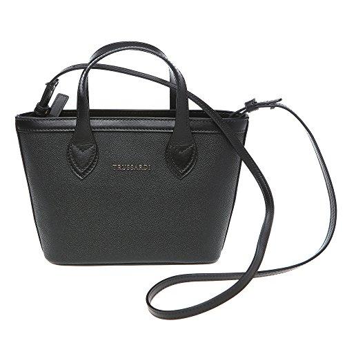 Trussardi Borsa Piccola Shopping Bag a Mano con Tracolla Vera Pelle Vitello in Dollaro - 24x16x8 Cm - Mod. 76B112M