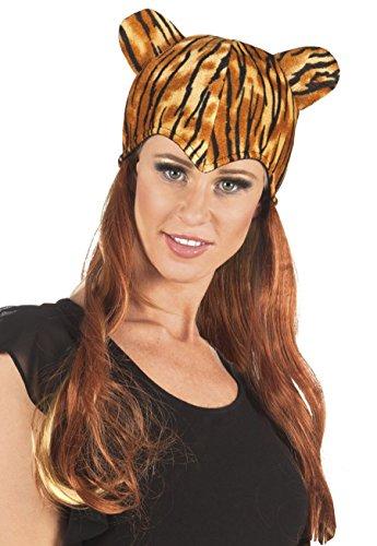 enenperücke Sweet Tiger mit Mütze, Braun, One Size (Halloween-kostüme Mit Blonden Haaren)