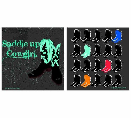 Thirstystone Anlässe Untersetzer, Sattel bis Cowgirl, multicolor (Sattel Cowgirl)