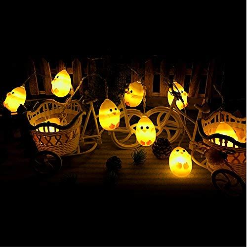 Ankamal Elec 1PC Pasqua LED String Lights, String Lights a Batteria Chick Shaped String Lights, per Giardino, casa, Patio, Matrimonio, Decorazioni pasquali (3m 20LED) - 3