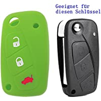 Gehäuse Grün Für Fiat 500 Bravo Doblo Schlüssel Tastenfeld Gummi