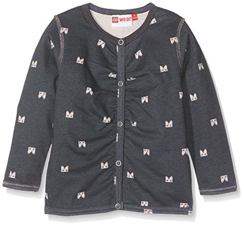 Lego Wear Baby-Mädchen Duplo Girl Stina 601-Sweatjacke Sweatshirt, Grau (Dark Grey 984), 104 - Jersey Girl Kinder Sweatshirt