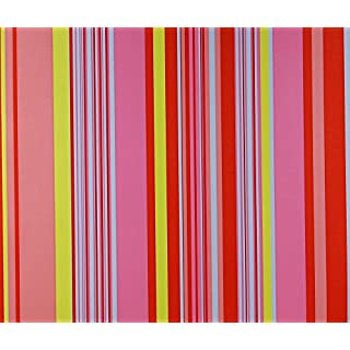 Dutch Wallcoverings 1194-4 Wallpaper Funny Stripes, Pink/Red