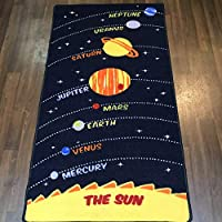 Non Slip Kids Space Play Mat /Rug 80cm x 150cm Hours Of Fun by OrientalRugCompany
