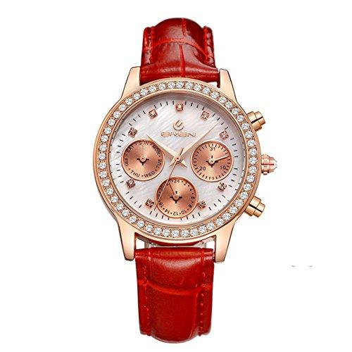 lässige wasserdichte Armbanduhr/Quarz-Uhr/Business casual Uhren-D