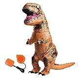 U.LIFE Dinosaurier Kostüm aufblasbare Halloween Erwachsene Partei Lustige Kleid Party Halloween Karneval Jungen Spielzeug Damen Herren Anzüge und Kostüme Festival Braun