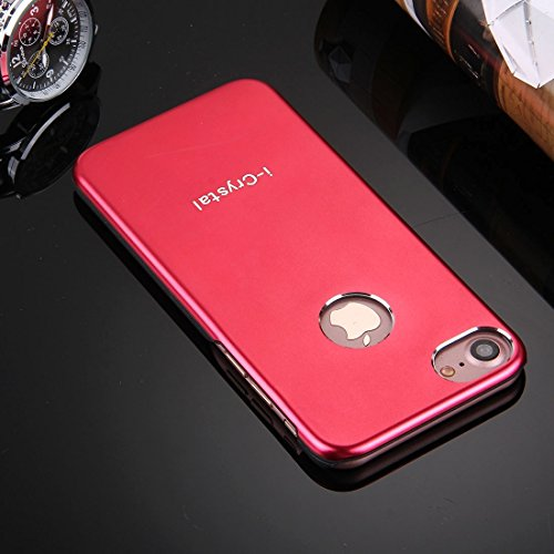 GHC Cases & Covers, I-Crystal für iPhone 7 Metall Schutzmaßnahmen zurück Fall ( Color : Gold ) Red