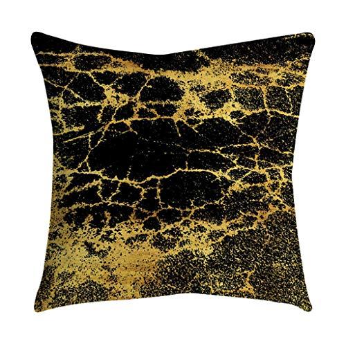 Baulody Überwurfkissen, Bronzefarben, Flanell, für Zuhause, Schwarz/Gold 45 * 45 N (Schneeflocke Clearance Dekorationen)
