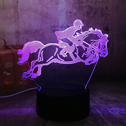 3D visuelle LED Nachtlicht Kinder Touch USB Tischlampe Dekoration Sport Geschenk USB Fernbedienung Licht beste Geschenk ()