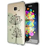 NALIA Handyhülle für Samsung Galaxy A3 2016, Slim Silikon Motiv Case Hülle Cover Crystal Schutzhülle Dünn Durchsichtig Etui Handy-Tasche Backcover Transparent Phone Bumper, Designs:Dandelion Bubbles