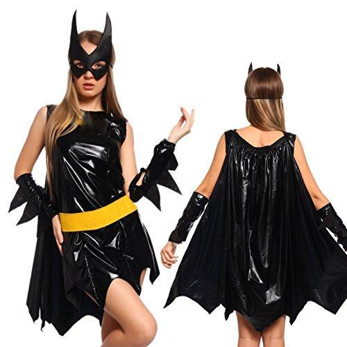 Sexy Halloween Cosplay Costume Vestito Carnevale Donna Batgirl BatWoman Taglia L