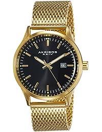 Akribos XXIV Analog Black Dial Men's Watch - AK901YGB