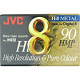 JVC Hi8 particelle metalliche in videocamera 8 mm Video cassette per Digital 8 registrazione 90 minuti detenzione PAL video for Resoltion alto e puro colore P 5-90 ore MP
