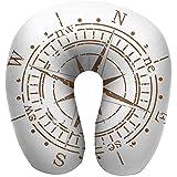 Semi Bussola a Forma di U Bussola Dispositivo di Navigazione di The Age of Discovery Windrose Design Sbiadito Controllo della Navigazione Marrone Chiaro