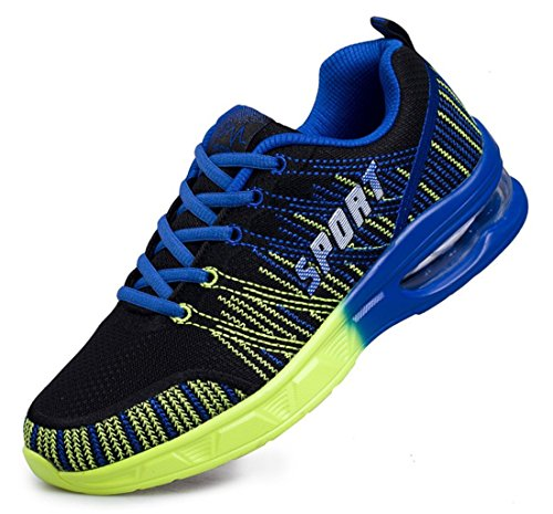 Men's Mesh Breathable Lace Up Outdoor Athletic Walking Shoes Black