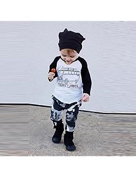 Culater® infante bambino neonato manica lunga stampa T-shirt + pants riforniscono vestiti