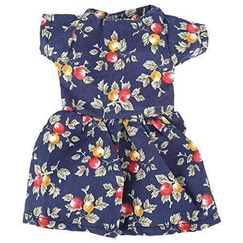 Kostüm Hausgemachte Gute - 14,5 Zoll Mode Kleidung Kleider für Babypuppen hausgemachte Puppe Rock Kleid Kleidung Geschenk für kleine Mädchen(Blaupause)