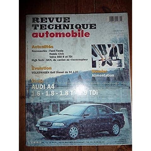 RTA0581 - REVUE TECHNIQUE AUTOMOBILE AUDI A4 1.6, 1.8, 1.8 T, 1.9 TDi